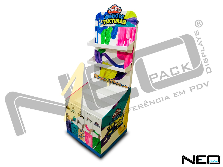 display de papelão expositor site_neopack_display de chao_playdooh