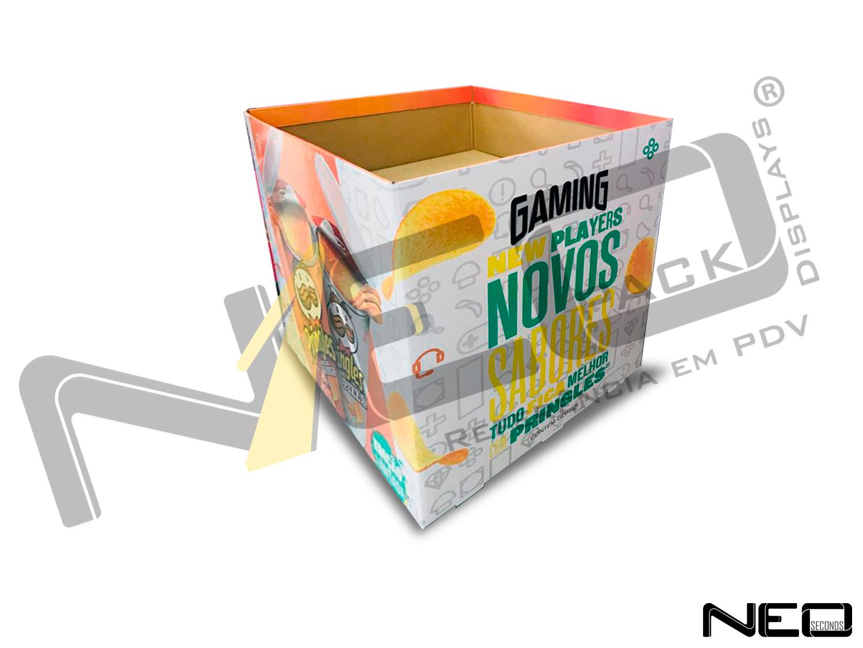 display de papelão expositor _neopack_display_cestao_pringles