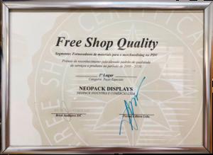 free shop quality premio neo pack display