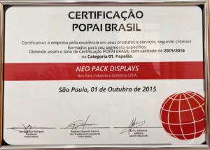 certificação popai brasil premio neo pack display