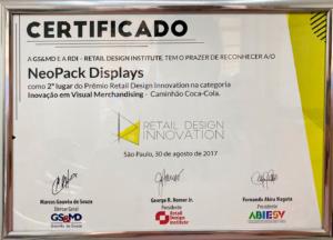 certificado premio neo pack display