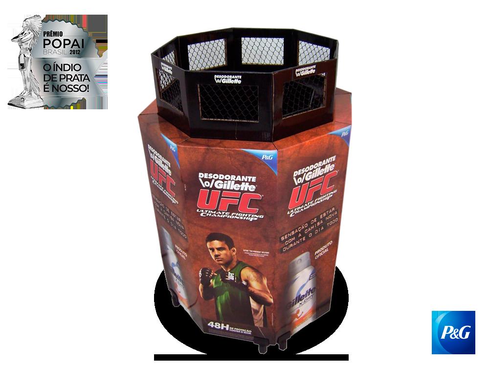 display de papelão expositor premio_popai_neopack_display_UFC_PeG_2012_prata