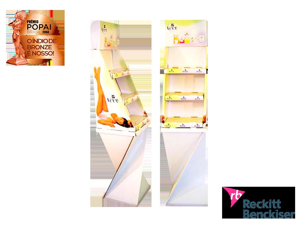 display de papelão expositor premio_popai_neopack_display_chao_reckitt_2004