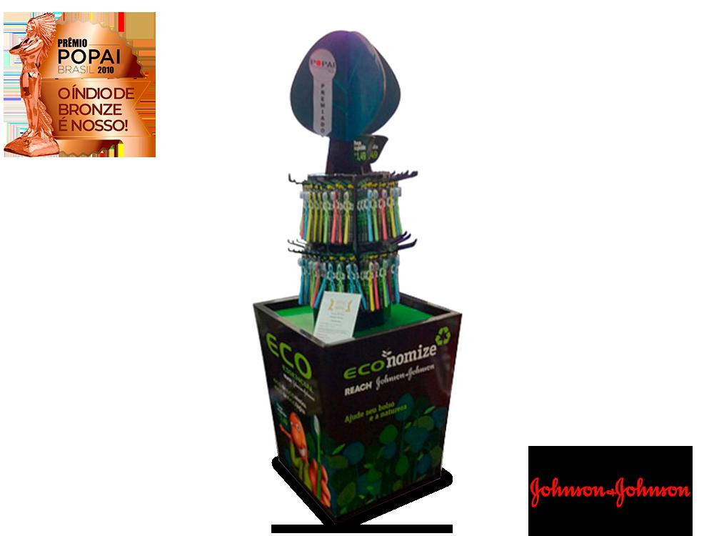 display de papelão expositor premio_popai_neopack_display_reach_johnsonejohnson_2010