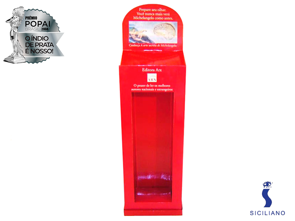 display de papelão expositor premio_popai_neopack_display_siciliano_2004_prata